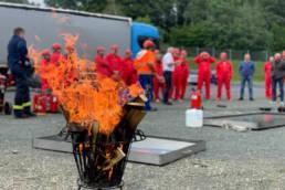 Brandschutzübung bei der Firma Bauerschmidt Folien