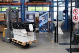 Automatisiertes Transportsystem in der Folienproduktion von Bauerschmidt Folien